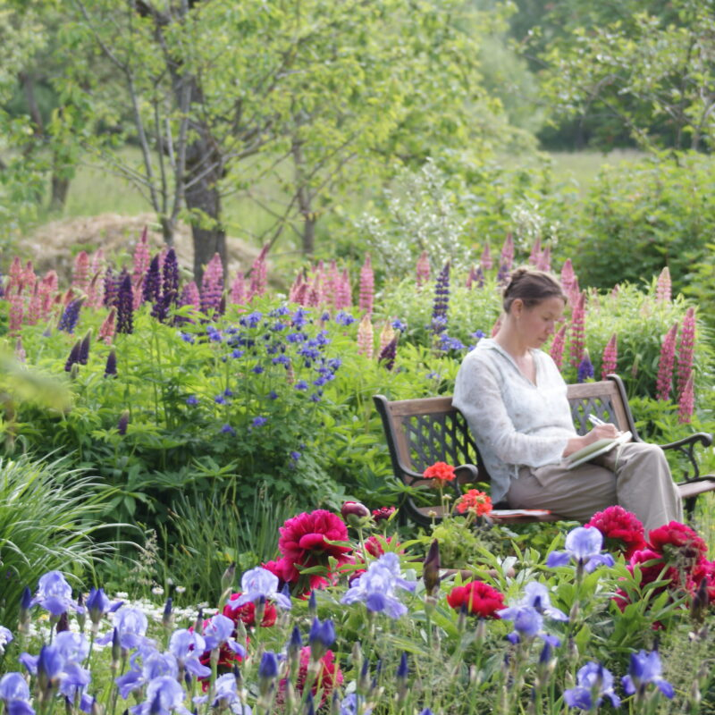 Church garden for meditation and prayer